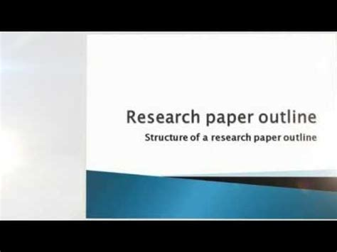 How to Write a Research Paper and Get an A