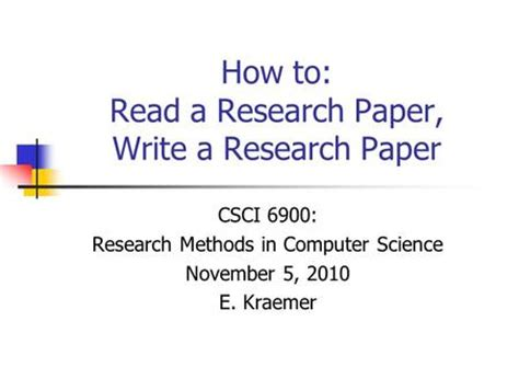 How to write good research paper